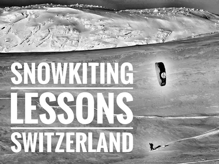 Snowkiting lessons Switzerland